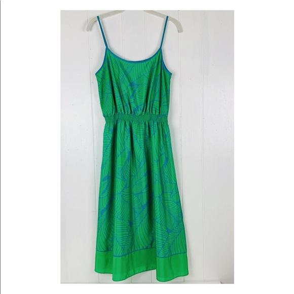 LOFT Dresses & Skirts - Loft Palm Leaf Midi Dress